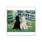 Bridge / Std Poodle (pr) Square Sticker 3