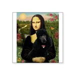 Mona / Std Poodle (bl) Square Sticker 3
