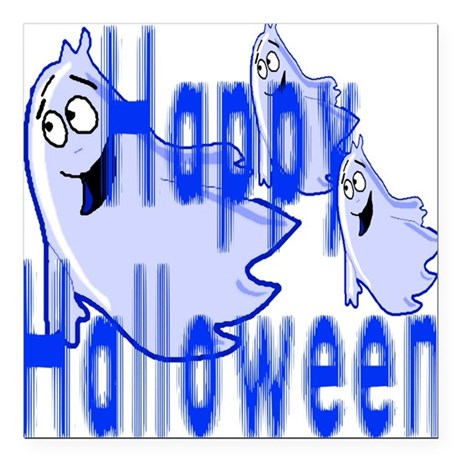"ghost4c2.png Square Car Magnet 3"" x 3"""