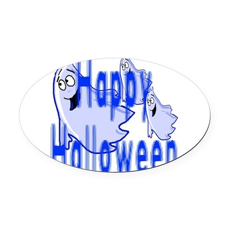 ghost4c2.png Oval Car Magnet