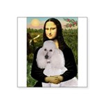 Mona / Std Poodle(w) Square Sticker 3