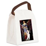 Ophelia /2 Poodles(b&w) Canvas Lunch Bag