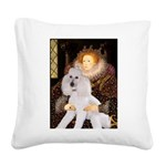 Queen / Std Poodle(w) Square Canvas Pillow
