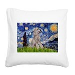 Starry / Std Poodle (s) Square Canvas Pillow