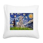 Starry / Std Poodle (s) Square Canvas Pillow