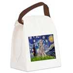 Starry / Std Poodle (s) Canvas Lunch Bag