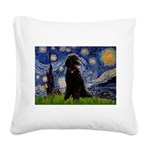 Starry / Std Poodle(bl) Square Canvas Pillow