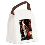 Accolade / 2 Poodles(b&w) Canvas Lunch Bag