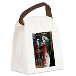 Tristan / 2 Poodles(b&w) Canvas Lunch Bag