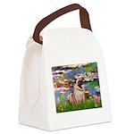 Lilies (#2)/Pug (#2) Canvas Lunch Bag
