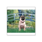 Bridge / Pug Square Sticker 3