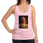 Fairies & Black Pug Racerback Tank Top