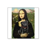 Mona's Black Pug Square Sticker 3