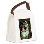 Ophelia / Fawn Pug Canvas Lunch Bag