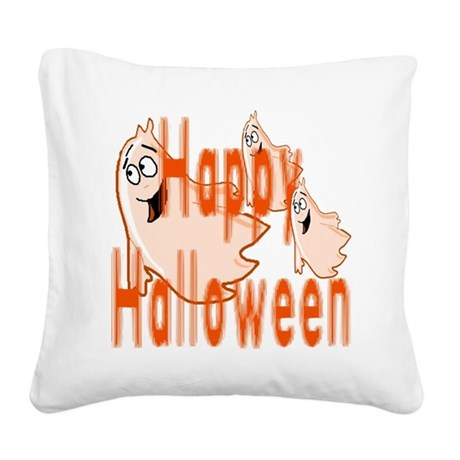 ghost4c3.png Square Canvas Pillow