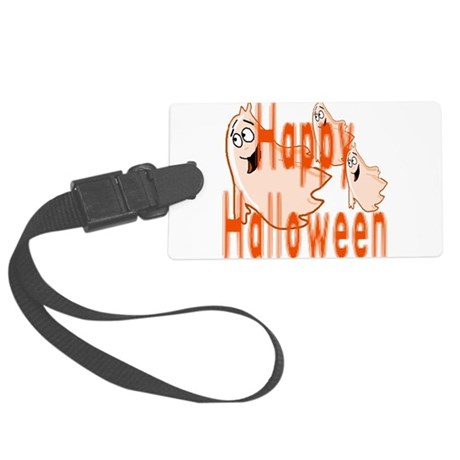 ghost4c3.png Large Luggage Tag