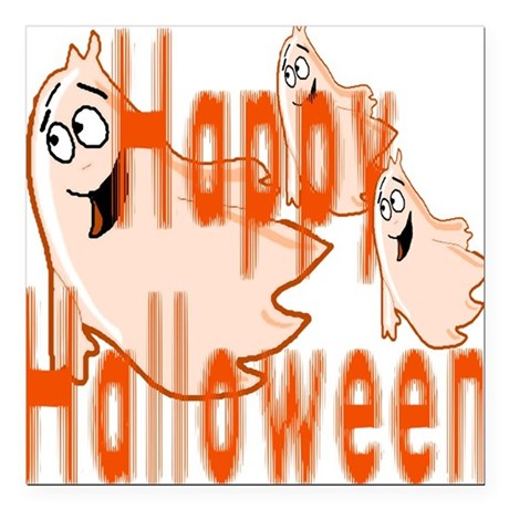 "ghost4c3.png Square Car Magnet 3"" x 3"""