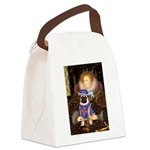 The Queen & Sir Pug Canvas Lunch Bag