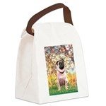 Spring / Pug Canvas Lunch Bag