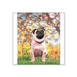 Spring / Pug Square Sticker 3