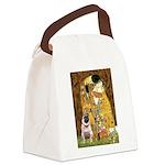 The Kiss / Pug Canvas Lunch Bag