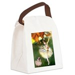 Dancer 1 & fawn Pug Canvas Lunch Bag