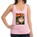 Dancer 1 & fawn Pug Racerback Tank Top