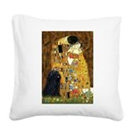 Kiss / Puli Square Canvas Pillow