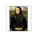Mona Lisa /Puli Square Sticker 3