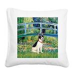 Bridge / Rat Terrier Square Canvas Pillow