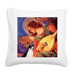 Mandolin / Rat Terrier Square Canvas Pillow