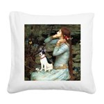 Ophelia / Rat Terrier Square Canvas Pillow