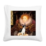 Queen / Rat Terrier Square Canvas Pillow