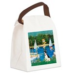 Sailboats / Rat Terrier Canvas Lunch Bag