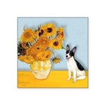 Sunflowers / Rat Terrier Square Sticker 3