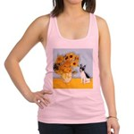 Sunflowers / Rat Terrier Racerback Tank Top