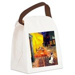 Cafe / Rat Terrier Canvas Lunch Bag