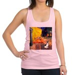 Cafe / Rat Terrier Racerback Tank Top
