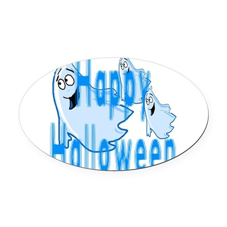 ghost4c.png Oval Car Magnet