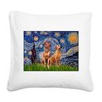 Starry / Rhodesian Ridgeback Square Canvas Pillow