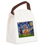Starry / Rhodesian Ridgeback Canvas Lunch Bag