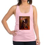 Lincoln's Rottweiler Racerback Tank Top
