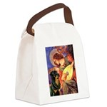 Mandolin Angel/Rottweiler Canvas Lunch Bag