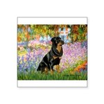 Garden / Rottweiler Square Sticker 3