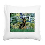 Bridge / Rottie Square Canvas Pillow