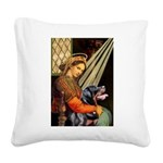 Madonna/Rottweiler Square Canvas Pillow