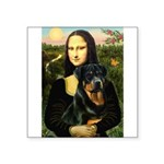 Mona Lisa/Rottweiler Square Sticker 3