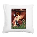 Angel #1/Rottweiler Square Canvas Pillow