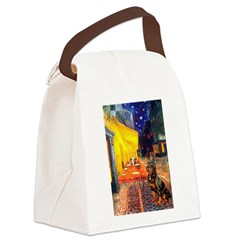 Cafe & Rottweiler Canvas Lunch Bag