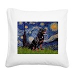 Starry/Rottweiler (#6) Square Canvas Pillow